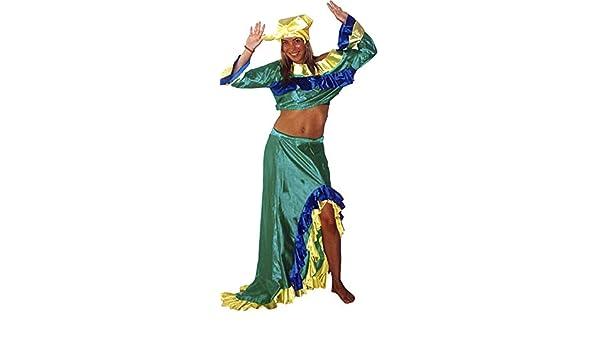 el carnaval Disfraz brasileña Mujer Adulto Talla XL - Cubana ...