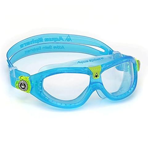 Aqua Sphere Seal Kid Swim Goggle, Clear Lens / Aqua - Long Wave Uv Lamp