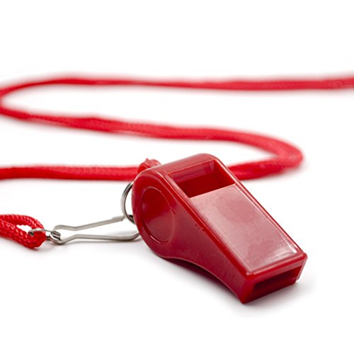 GOGO Whistle with Lanyard Classic Sporting Coach Whistle, Safety Whistle Emergency Survival Whistle-Model 1 -