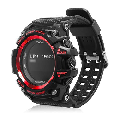 ColMi T1 Smart Watch OLED Display Heart Rate Monitor Message Call Reminder(Color:Red)