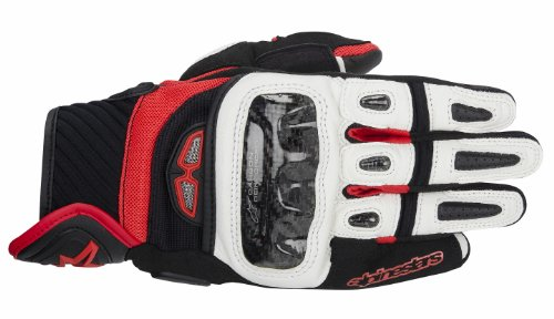 - Alpinestars GP Air Men's Street Motorcycle Gloves - Black/White/Red/X-Large