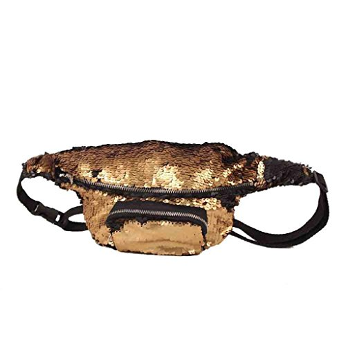 paillettes Pack Sports couleur Taille air Sac double Unisexe De Or plein Trydoit Femme de unisexe occasionnels taille PZq7Cw