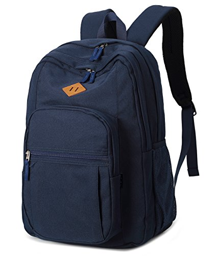 - Abshoo Classical Basic Womens Travel Backpack For College Men Water Resistant Bookbag (Navy)