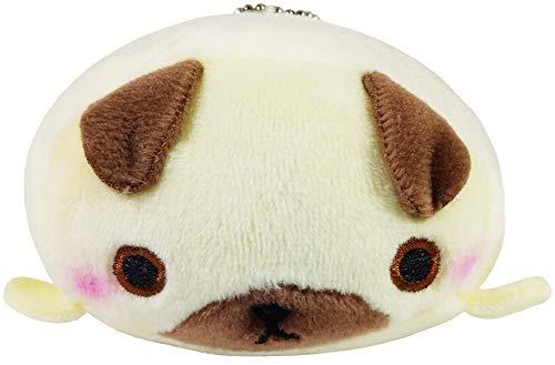 Plush Cell Phone Keychain - Yamani Japanese Mocchiizoo Small Stuffed Animal Plush Key Chain Cell Phone & Key (Pug)