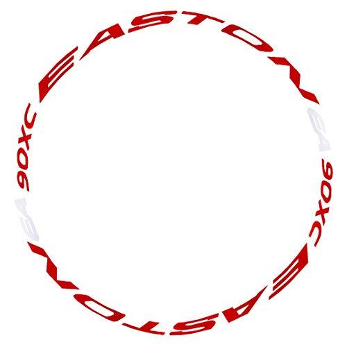 RuiyiF 1PCS Bike Bicycle Wheel Rim Light Reflective Sticker Decal, Colorful Cycling Wheel Reflective Tape - Red + White