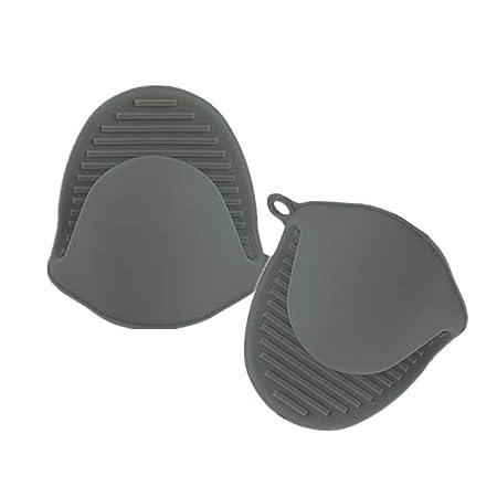 AITE Silikon-Topfhalter Mini Ofenhandschuh Kochen Pinch Griffe Küche Hitzebeständig Lösung Kochen Backen Topflappen grau