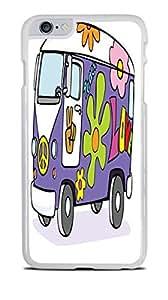 Groovy VW Bus Flower Power White Hardshell Case for iPhone 6+ (5.5) by ruishername