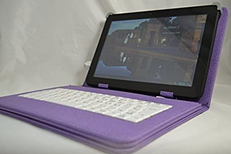 """Funda con Teclado Extraíble para Tablet Bq Edison 3 Quad Core 10.1"""" - MORADO"""