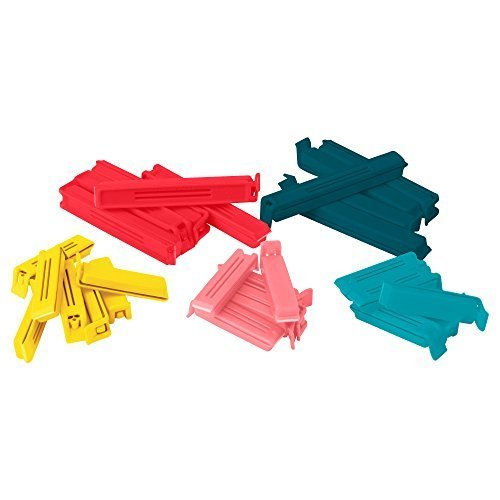 Ikea 903.391.72 Bevara Sealing clip, assorted colors, assorted sizes, 30-pack