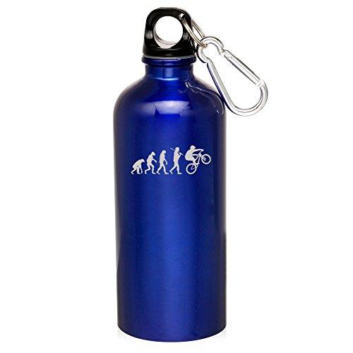 Blue Evolution Mountain Bmx 20Oz Aluminum Sports Water Bottle Canteen Clip Evolution Mountain Bmx Bike by Sport bottle