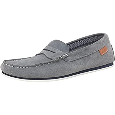 56443caa550f Lacoste Mens Chanler Suede Loafers Grey  Amazon.co.uk  Shoes   Bags