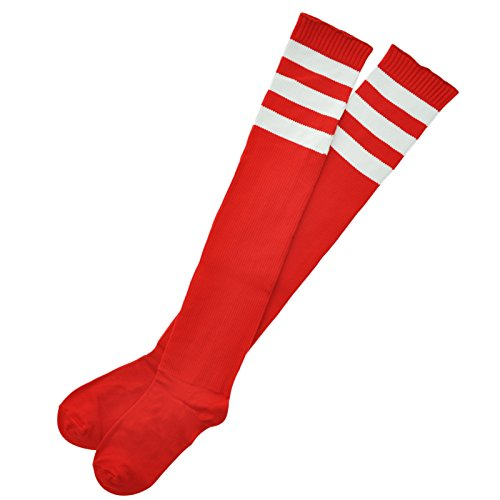 Angelina 1 Pair Ribbed Thigh High Athletic Socks (Ribbed Thigh Highs)