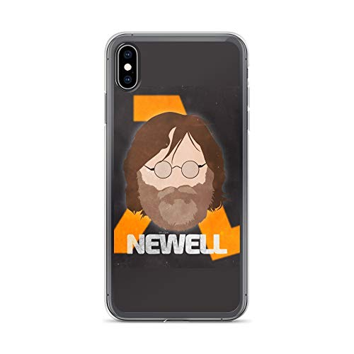 - iPhone Xs Max Case Anti-Scratch Gamer Video Game Transparent Cases Cover Gabe Newell Minimal Face Gaming Computer Crystal Clear