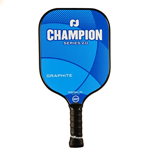 Champion Graphite 2.0 Pickleball Paddle by Pickleball, Inc. (Atlas Blue)| Nomex Composite Honeycomb Core, Graphite Face | Pickleball Sets with Pickleballs, Rackets & Bags Available | USAPA Approved