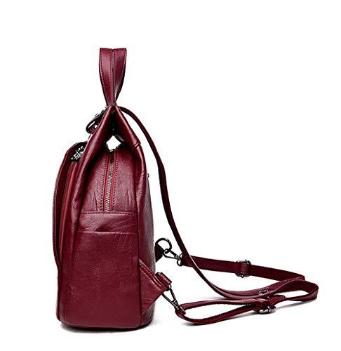 Sac Main Rouge Rouge porté au à JUND Rouge Dos Femme pour 1P7qwEx