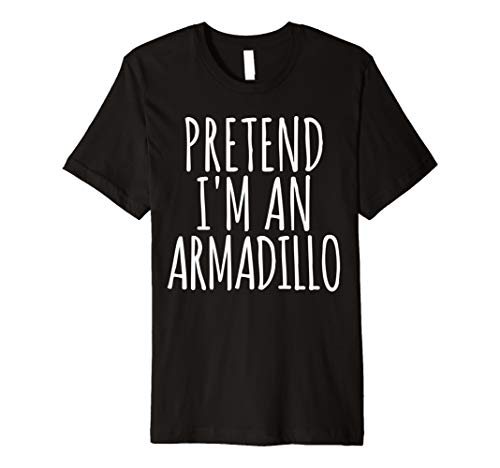 Funny Lazy Halloween Costume T Shirt Pretend Im An Armadillo]()