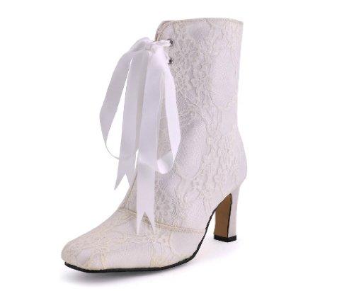 Fashion Damen Kevin Modische Hochzeitsschuhe Elfenbein 17Yqw88Bx