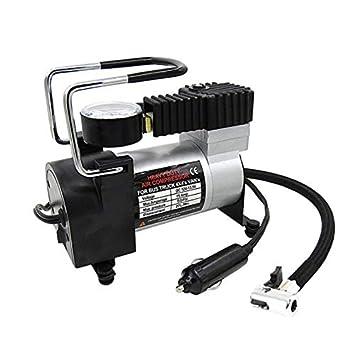 Indicador de presión eléctrico portátil del inflador del neumático del compresor de Aire del Metal de DC 12V: Amazon.es: Electrónica
