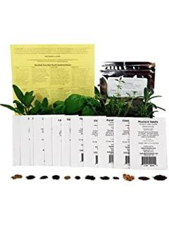 Assortment Of 12 Culinary Herb Seeds   Grow Cooking Herbs  Parsley, Thyme,  Cilantro