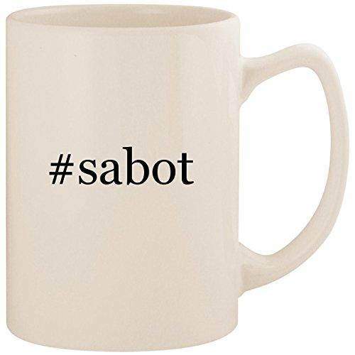 #sabot - White Hashtag 14oz Ceramic Statesman Coffee Mug Cup