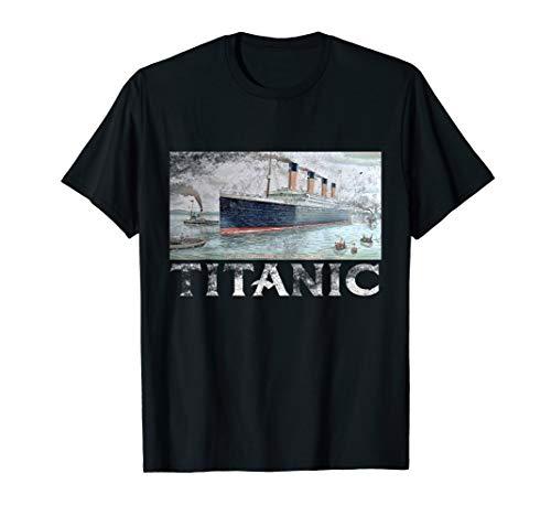 Titanic April 1912 T Shirt Tee Ship Voyage Atlantic -