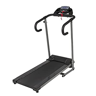 1100W Folding Electric Treadmill Portable Motorized Running Machine Black