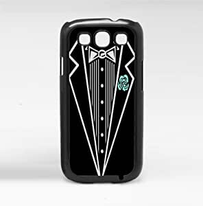 Black and White Tuxedo with Teal Rose Artistic Hard Snap on Phone Case (Galaxy s3 III)