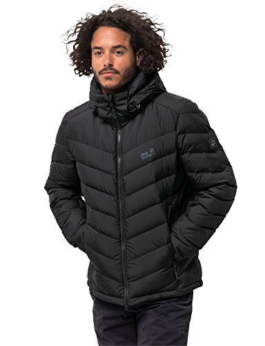Winter Jacket Black Coat Fairmont Black Down Coat Padded Warm Jack Mens Wolfskin zZv010