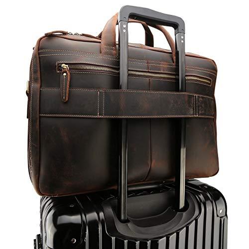 Uomo Pollici Pelle Retrò Viaggio Laptop Tracolla 17 A Grande Borsa In Da Per Wuzheng xInXAYO
