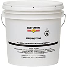 Rust-Oleum 283567 Clear FinishKote Concrete Saver 80 High Solids Polyaspartic Floor Coating, Part A, 2 gal Can