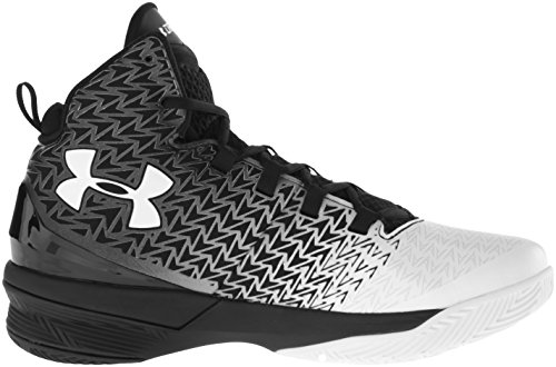 Under Armour Mens Ua Clutch 3 Scarpe Da Basket Drive Nero / Bianco / Bianco