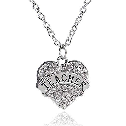 Teachers Gift Graduation Gift Teacher Necklace Christmas Birthday Thanksgiving Gifts for Teacher Gift from Student Teacher Jewelry Gift (Christmas Teacher Under Gifts $5)