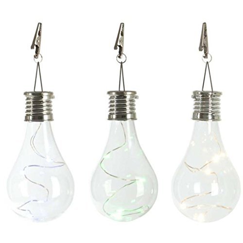 Forthery Waterproof Solar Rotatable Outdoor Garden Camping Hanging LED Light Lamp Bulb (Warm White) (Warm White)