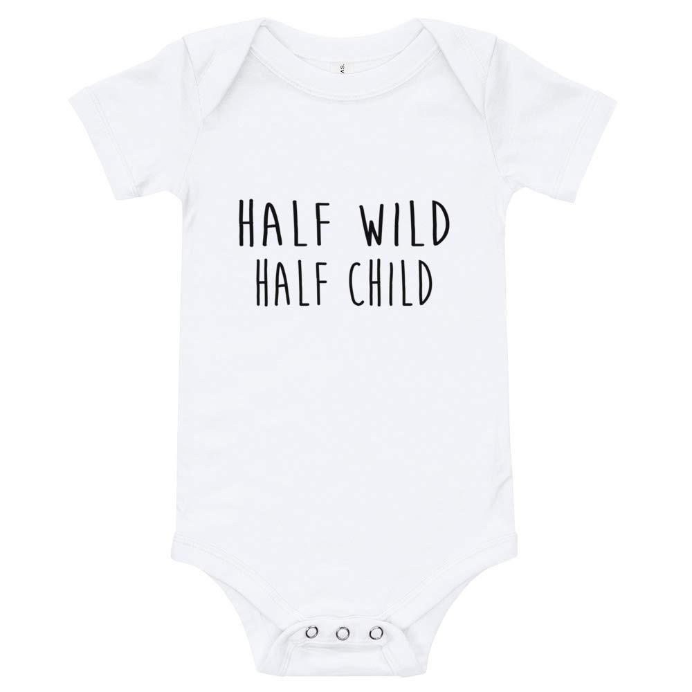 Happy Lazy Shade Half Wild Half Child Onesie Newborn T-Shirt White