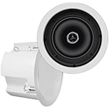 OSD Audio ICE800ST 8-Inch 2 Way 8 Ohm/70V Standard In-Ceiling Speaker with Backcan (White)