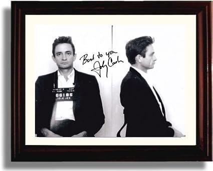 Amazon.com: Framed Johnny Cash Autograph Replica Print: Posters & Prints