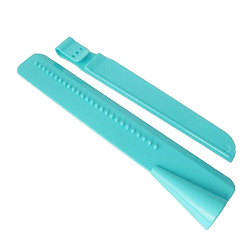 SUJING Cake Scraper Smoother Adjustable Edge Tool Icing Polisher Plastic Butter Cream Decorating Spatula Tools (blue)