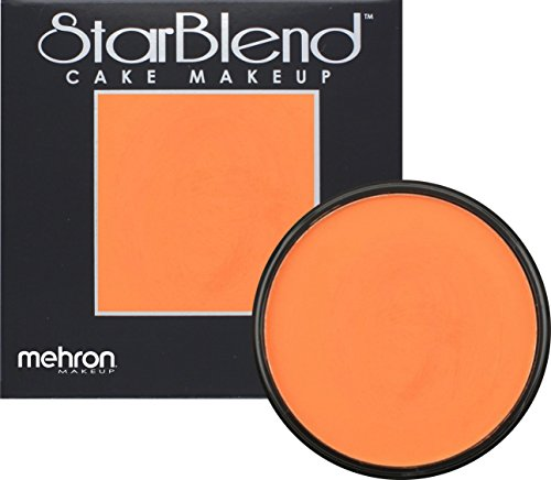 Cheap Stage Makeup (Mehron Makeup StarBlend Cake Makeup ORANGE – 2oz)