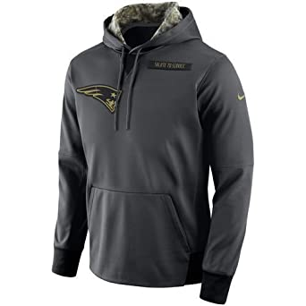 c2635e336 Amazon.com: Nike New England Patriots 2016 Salute to Service Hoodie 2XL-Run  a 1/2 Size Small This Year Anthracite: Clothing