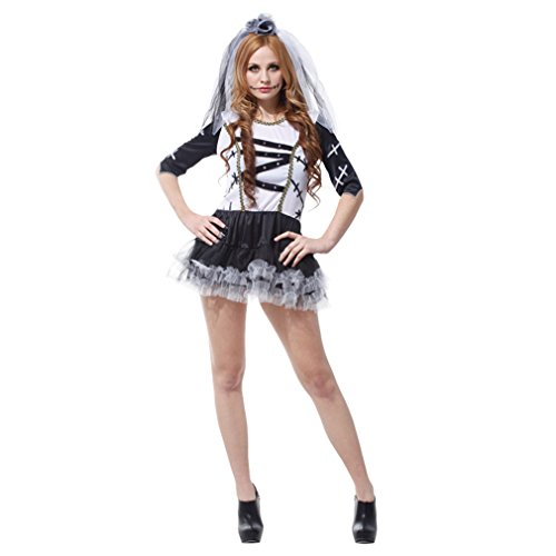 Spooktacular Women's Corpse Bride Ballerina Costume with Dress and (Dead Ballerina Costumes)