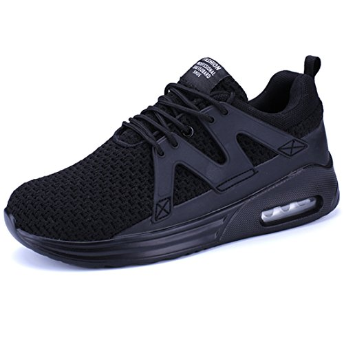 (KRIMUS Mens Womens Air Max Shoes Running Shoes Fashion Sneakers for Athletic Sport Walking Gym Fitness Black)