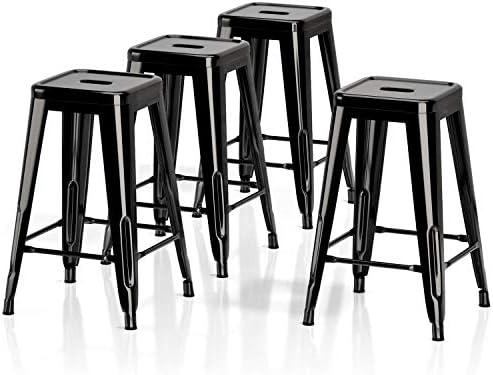 VIPEK 26 Inch Barstools Counter Height Metal Bar Stools