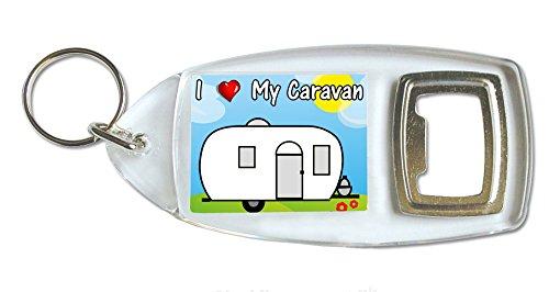 I Love My Caravan Bottle Opener Keyring Ideal Birthday Gift B47