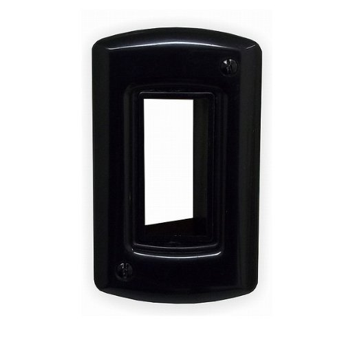 PowerBridge CSIW-BK Cable Solution Wall Plate for Low-Voltage Bulk-Wire Cabling (Each, Black)
