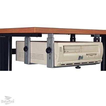 Dataflex 32.182 - Soporte para CPU horizontal/vertical, kit de sujeción, color plata