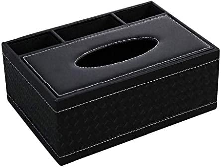 YWSZJ Multifunktions-PU-Leder-Feder-Bleistift-Fernbedienung Gewebe-Kasten-Abdeckungs-Halter Schreibtisch Aufbewahrungsbehälter-Behälter for Heim und Büro