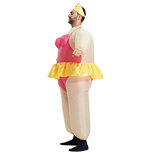 TOLOCO Inflatable Costume   Inflatable Costumes For Adults Or Child   Halloween Costume   Blow Up Costume (Ballet-Adult) by TOLOCO (Image #3)