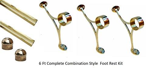 www.thefootrailstore.com 6 ft Brass Bar Foot Rail -2