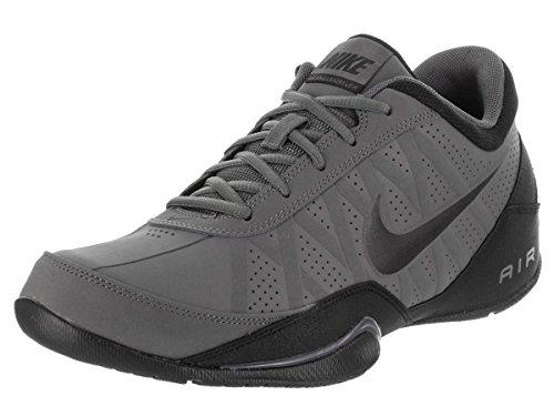 NIKE Men's Air Ring Leader Low Basketball Shoe Dark Grey/Black Size 12 M - Air Nike Shoes Basketball Men