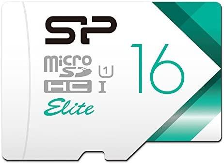 Silicon Power - Tarjeta microSD de 16 GB Clase 10 con Adaptador